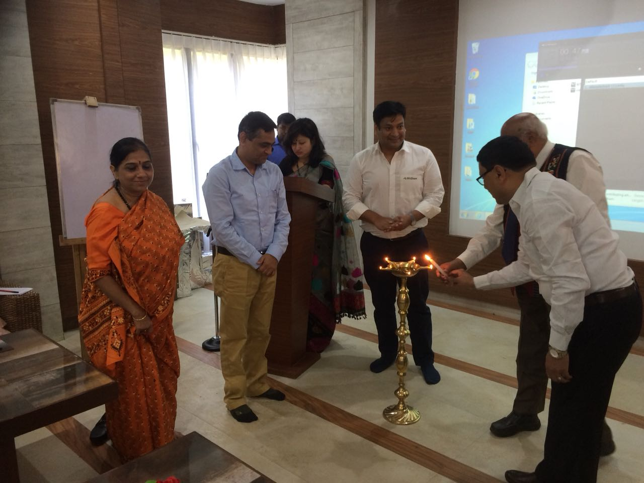TDB participated in lighting the lamp during the inaugural session of Annual Business Plan Meet of BitChem on 4th April 2018 at Guwahati, Assam.