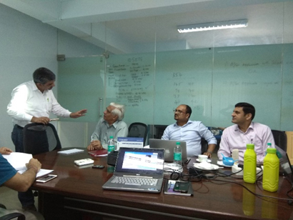 Glimpse of Technical and financial presentation at Renalyx, Bangalore.
