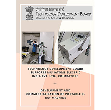 Technology Development Board (TDB) supports IATOME Electric India Private Limited., Coimbatore., Tamil Nadu